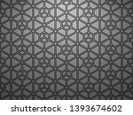 the geometric pattern with... | Shutterstock . vector #1393674602