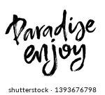 summer brush lettering... | Shutterstock .eps vector #1393676798