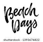 summer brush lettering... | Shutterstock .eps vector #1393676822