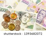 Czech Money. Banknotes And...