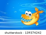 illustration of a sea with a... | Shutterstock .eps vector #139374242