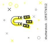 grey magnet with money line... | Shutterstock .eps vector #1393776512
