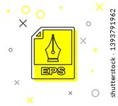 grey eps file document icon.... | Shutterstock .eps vector #1393791962