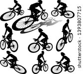 professional cyclist with... | Shutterstock .eps vector #1393807715