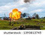 minsk region  belarus   may 09  ... | Shutterstock . vector #1393813745