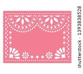 papel picado pink vector floral ...   Shutterstock .eps vector #1393838528