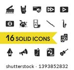 melody icons set with pause... | Shutterstock .eps vector #1393852832