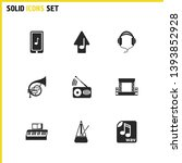 music icons set with piano ...