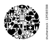 medical icons in circle | Shutterstock .eps vector #139385588