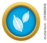 cardamom pods icon blue vector...   Shutterstock .eps vector #1393880828