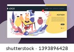 clay vases pottery hobby online ... | Shutterstock .eps vector #1393896428