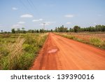 Red Road In The Countryside In...