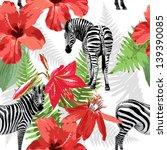 Seamless Pattern Of Zebras
