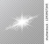 white star dust trail sparkling ... | Shutterstock .eps vector #1393907345