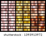 set of gold rose  gold and... | Shutterstock .eps vector #1393913972