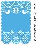 papel picado wedding invitation ...   Shutterstock .eps vector #1393921985
