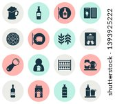 beverages icons set with scotch ... | Shutterstock . vector #1393925222