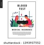 medical tests template   blood... | Shutterstock .eps vector #1393937552