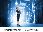 businesswoman standing and... | Shutterstock . vector #139394732