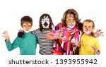 children's group and... | Shutterstock . vector #1393955942