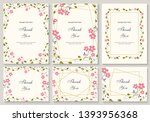 flower vector card. template.... | Shutterstock .eps vector #1393956368