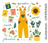 gardening and farmers vector... | Shutterstock .eps vector #1393965665