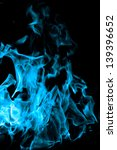 Blue Flames Of Fire As ...