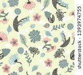 cute pattern in small flower.... | Shutterstock .eps vector #1393974755