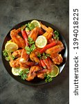 delicious grilled chicken wings ... | Shutterstock . vector #1394018225