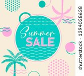 summer sale banner with... | Shutterstock .eps vector #1394028638