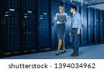 in the modern data center ... | Shutterstock . vector #1394034962