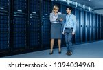 in the modern data center ... | Shutterstock . vector #1394034968