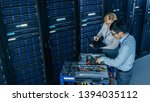 in the modern data center ... | Shutterstock . vector #1394035112