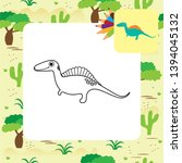 cute dino coloring page. vector ... | Shutterstock .eps vector #1394045132