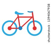 vector cartoon bike icon... | Shutterstock .eps vector #1394067938