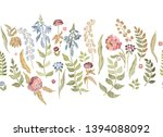 floral seamless background... | Shutterstock .eps vector #1394088092