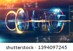 futuristic and modern design of ... | Shutterstock . vector #1394097245