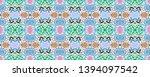 aztec print. ikat seamless... | Shutterstock . vector #1394097542