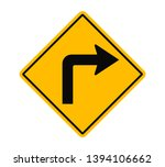 Turn Right Ahead Traffic Sign...