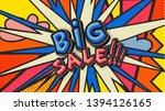 big sale pop art cloud bubble.... | Shutterstock .eps vector #1394126165
