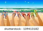female legs in colored flip... | Shutterstock .eps vector #139413182