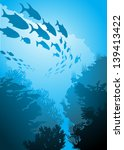 underwater world | Shutterstock .eps vector #139413422