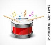 illustration of music notes... | Shutterstock .eps vector #139413968