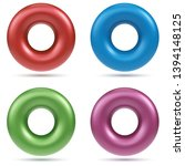 color donut shapes isolated on... | Shutterstock .eps vector #1394148125