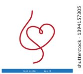 heart shape icon blood donor... | Shutterstock .eps vector #1394157305