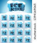 folders vector icons frozen in... | Shutterstock .eps vector #1394169065
