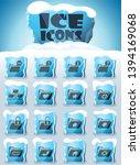 folders vector icons frozen in... | Shutterstock .eps vector #1394169068