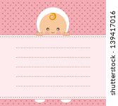 baby girl  announcement card.... | Shutterstock .eps vector #139417016