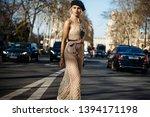paris  france   february 26 ... | Shutterstock . vector #1394171198