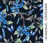 watercolor summer forest...   Shutterstock . vector #1394213465